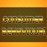 Uppf?rande f?r konsument f?r ordhandstiltext Affärsidé för beslut som visningen gör för att köpa eller för att inte köpa en produ royaltyfri illustrationer