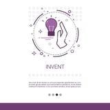 Uppfinn banret för rengöringsduken för affären för processen för ny idéinspiration det idérika med kopieringsutrymme vektor illustrationer