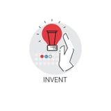 Uppfinn symbolen för affären för processen för ny idéinspiration den idérika stock illustrationer