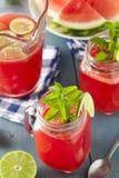 Uppfriskande hemlagad vattenmelonAgua Fresca Royaltyfri Foto