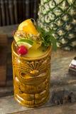 Uppfriskande kalla Tiki Drink Cocktails Royaltyfria Foton