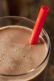 Uppfriskande läcker choklad mjölkar Arkivbild