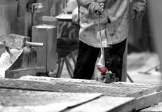 Uppgifter för aluminiumensemblehus arkivfoto