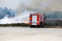 uppgiftsbrandlastbil Royaltyfri Bild