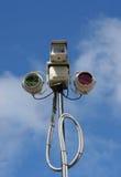 uppgiftskameralampor royaltyfria foton
