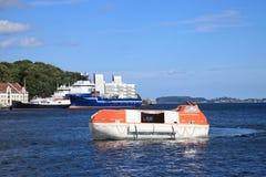 uppgiftslifeboats royaltyfria foton