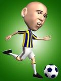 uppgiftsspelarefotboll Royaltyfri Bild