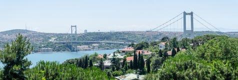 Upphängningbro i Istanbul Arkivbild