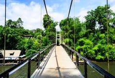 Upphängningbro i Thailand Arkivfoton