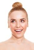 Upphetsad kvinna arkivfoto