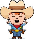 Upphetsad liten cowboy vektor illustrationer