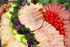 uppläggningsfat för kall meat Royaltyfria Bilder