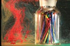 upplösa färgpulver Arkivfoton