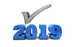 2019 upplösningar, förutsägelser och kontrollista vektor illustrationer