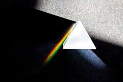 Upplösningen av ljus i en prisma Royaltyfria Bilder