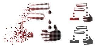 Upplösta Dot Halftone Corrosive Drops Icon vektor illustrationer