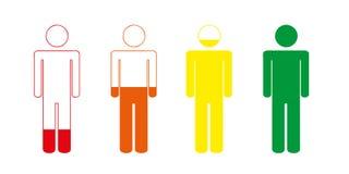 Uppladdning av din pictogram för livbatteriperson stock illustrationer