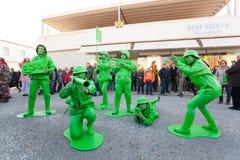 140. upplaga av karnevalet av Viareggio Royaltyfri Foto