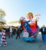 140. upplaga av karnevalet av Viareggio Arkivfoton