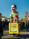 140. upplaga av karnevalet av Viareggio Royaltyfria Foton