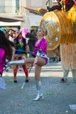 140. upplaga av karnevalet av Viareggio Arkivfoto