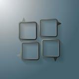 Upplaga för svart för anförandebubblafönster Royaltyfria Bilder