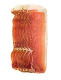 Uppläggningsfatet av spanjor kurerade grisköttskinkajamon Arkivbilder