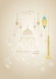 Upplyst arabisk lykta Arkivbilder