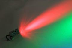 Upplyst färgflodljus för mörk vägg Royaltyfri Foto