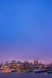 Upplyst horisont av San Francisco, Kalifornien Royaltyfria Foton