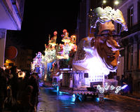 Upplyst karnevalflöte Arkivbild