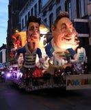 Upplyst karnevalflöte Royaltyfri Bild