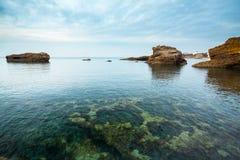 Upplyst Seascape Arkivbild