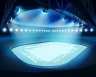 Upplyst stadion också vektor för coreldrawillustration Royaltyfri Foto