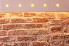 Upplyst vägg Royaltyfri Foto