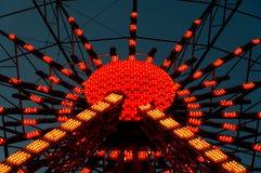 Upplysta Ferris Wheel Royaltyfri Fotografi