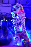 Upplysta Lion Dance Royaltyfri Foto