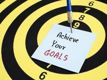 Uppnå dina mål 1 Fotografering för Bildbyråer
