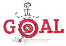 Uppnå mål stock illustrationer