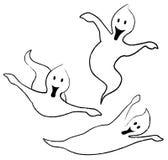 uppnosiga spökar tre Arkivbild