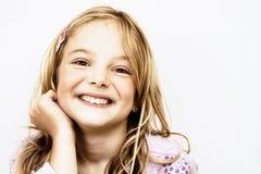 uppnosigt leende Royaltyfri Bild