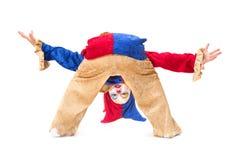Uppochnervänd clown Fotografering för Bildbyråer