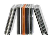 Upprätta fall för CD juvel Arkivbilder