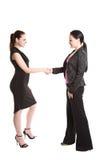 uppröra för affärskvinnahänder Arkivfoto