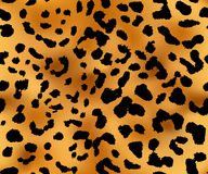 Upprepa för leopardmodelltextur som är sömlöst Arkivbild