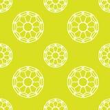 Upprepa geometriska tegelplattor med snöra åt Stock Illustrationer
