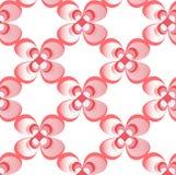 Upprepa modellen för vektorn för röd färg för blomman geometrisk den blom- abstrakta arkivbilder