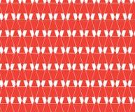 Upprepa rött geometriskt abstrakt begrepp, bokstavsw-bakgrund arkivfoto