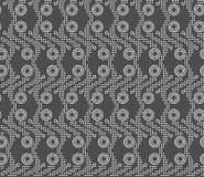 Upprepa vertikala prickiga band för prydnad med dubbla cirklar Arkivbild