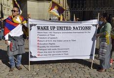 10 upprordag 2017 för mars i Tibet, Bern switzerland Fotografering för Bildbyråer